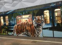Tiger in Moskau-Metro